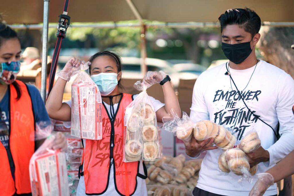 Hawaii Foodbank Volunteers from UFC Gym